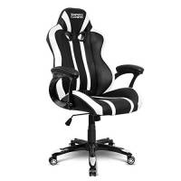 Empire Gaming - Poltrona Gamer Racing 600 Series Bianca - Modello sedia avvolgente sport - Braccioli ultra-comodi e morbidi