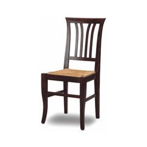 Sedia da cucina in legno impagliata