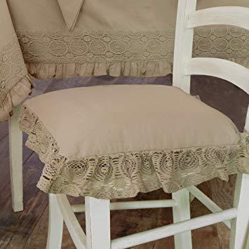 Cuscini per sedie shabby chic for Cuscini per sedie shabby chic